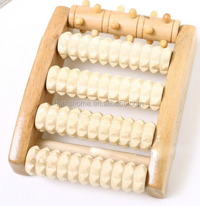 New products practical lotus wood massage tools for foot muscle stimulate blood circulation