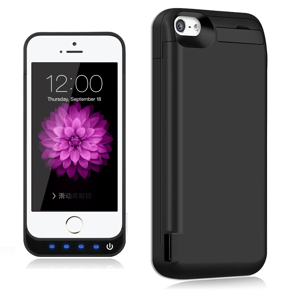 Buy Magcover Beautiful Magnetic Case For Iphone 5 5s Built In 5se Kickstand Series Blackblack 5c Se Battery Casetqthl Update 4800mah External Backup Protective Charger Usb Output