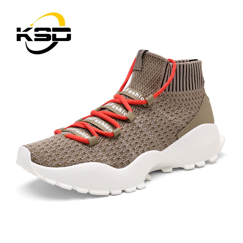 Wholesale Flying High Heel Sneakers Hot Sale Stock Men Sport Shoes