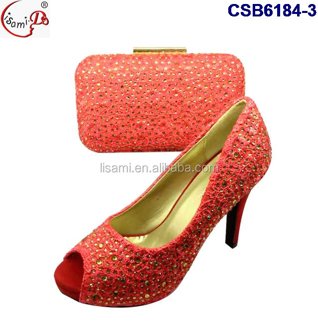 CSB6184 and wholesale italian shoes bag clutch set bag party shoes Fashionable nigeria and matching 4qxr46v