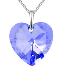 Fashion Large Crystal Heart Pendant Accessory Rainbow Color Rhinestone Necklace Jewelry For Women