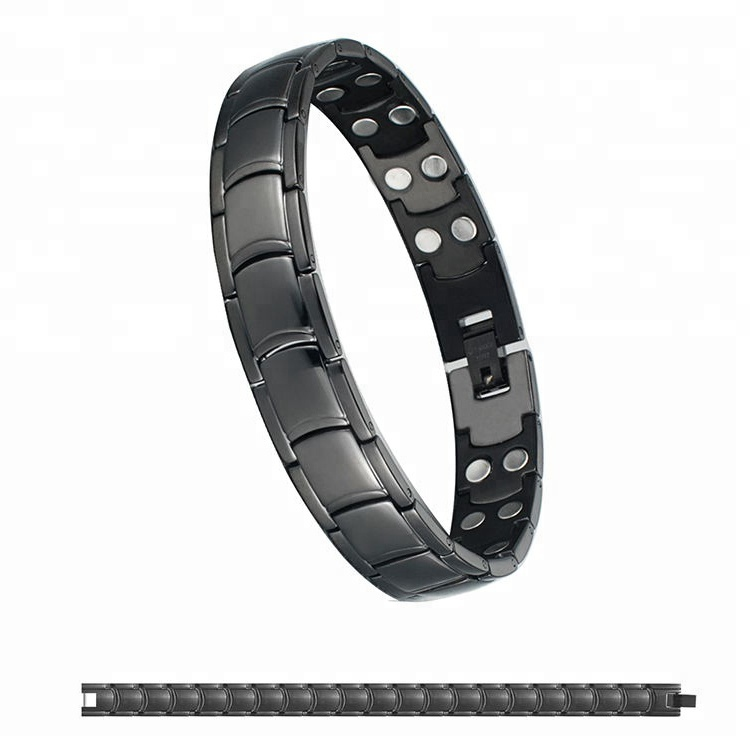 Bio Magnetic Bracelet Stainless Steel Bracelet Energy for Pain Relief Blood Pressure Control Health Bracelet