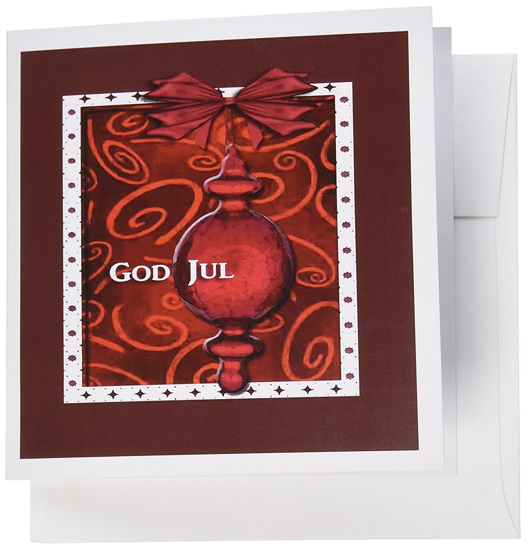 Buy 3dRose God Jul, Merry Christmas in Swedish, Ruby Glass Ornament ...