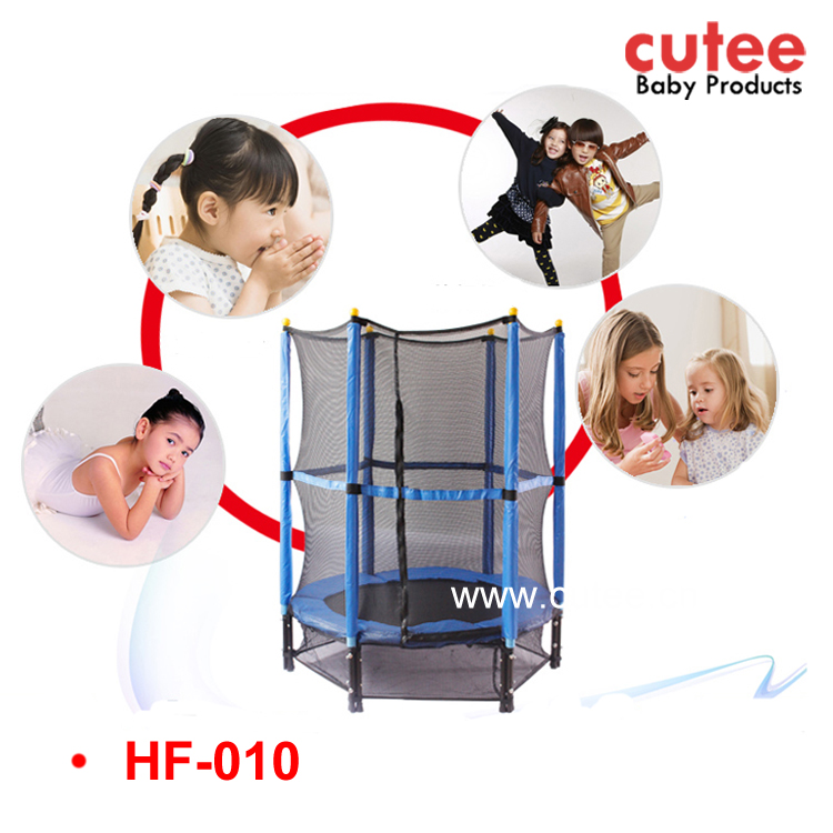 Large Size Round Kids Children Indoor Trampoline Jumping Bed With Safety Nets