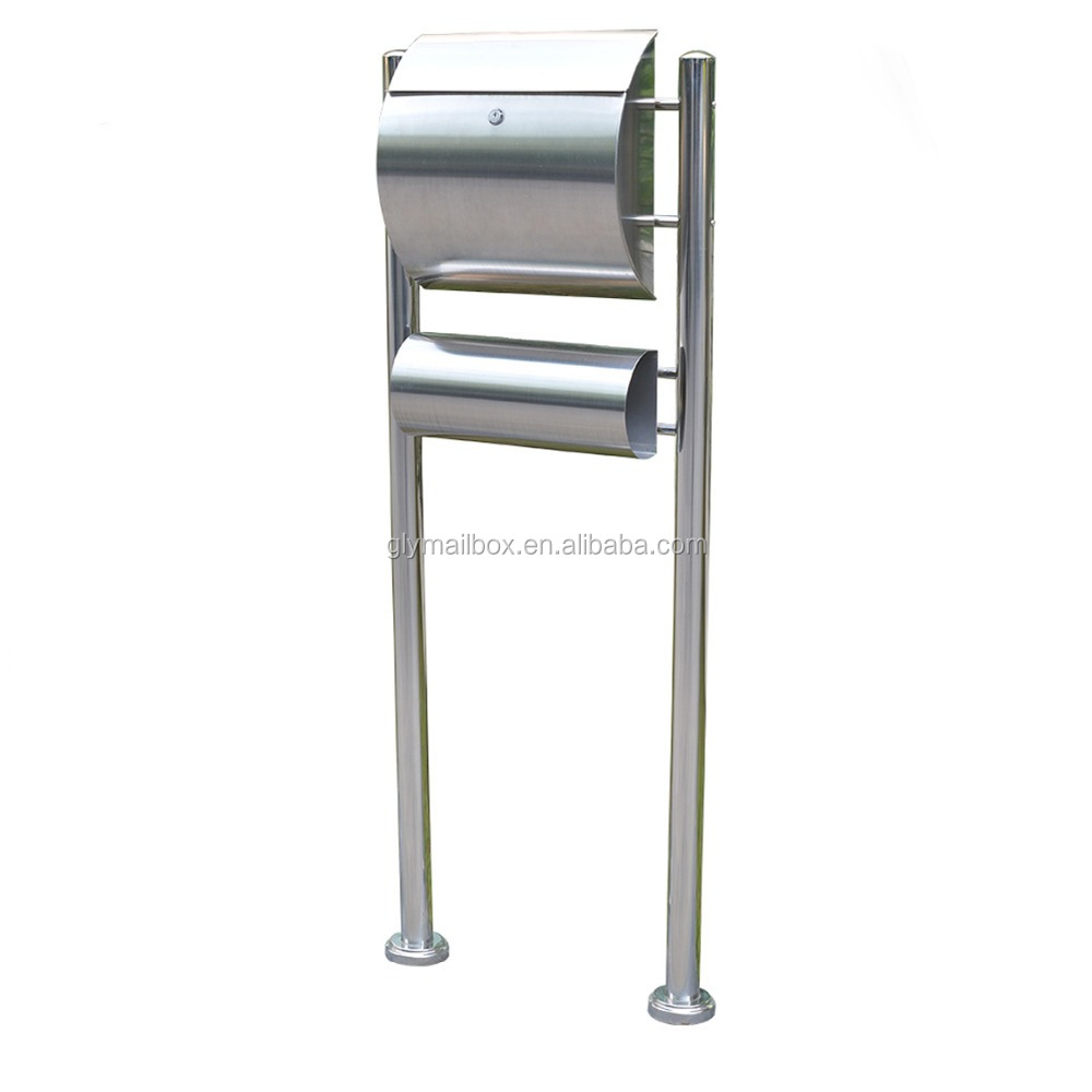 Durable Cast Stainless Steel Standing Safety Mailboxes