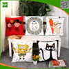 100% Cotton Cartoon Wool Embroidery Sofa Lumbar Cushion Cover Wholesale Embroidery Pillow Cover