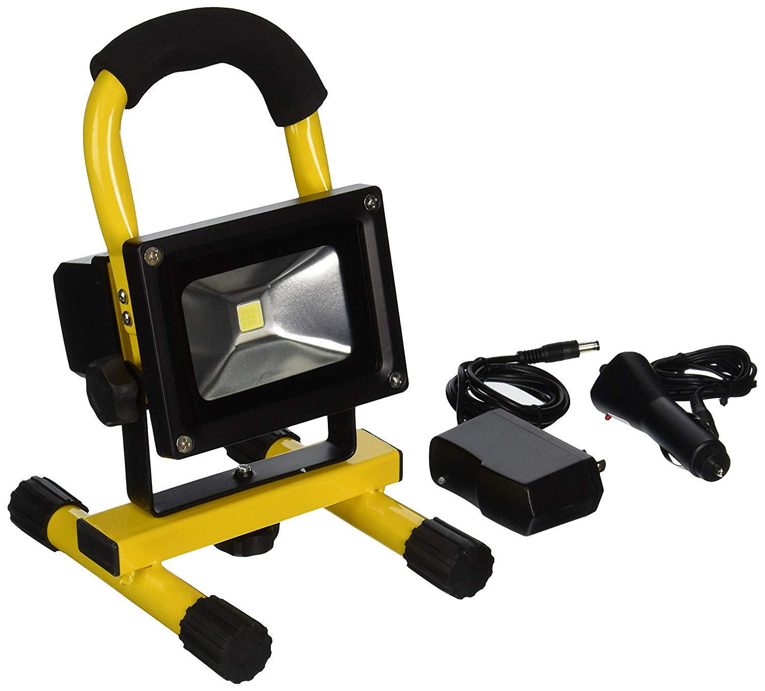 TruePower 30-3002 Portable 10W COB Type Super Bright LED Work Light Rechargeable Li-Ion Flood Light Lamp, Yellow