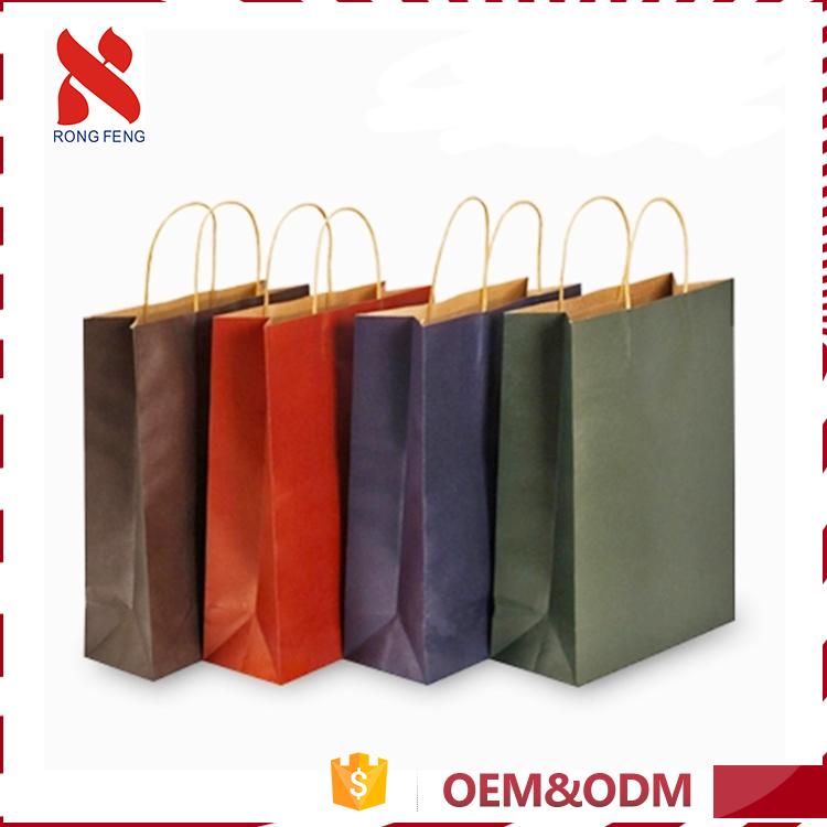 Super Quality Custom Design Gift Black Paper Bag Your Own Kraft Ping