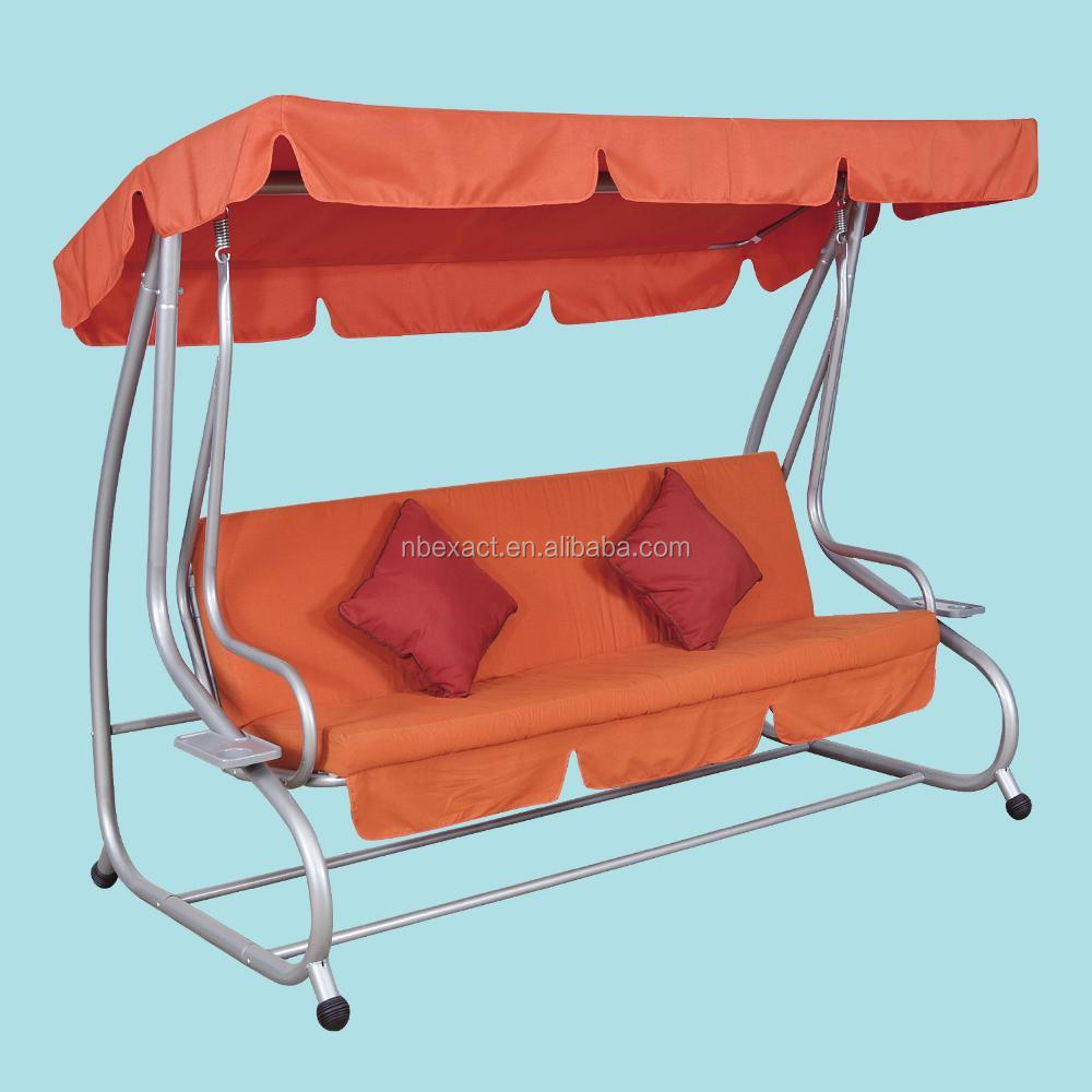 Cheap Hot Sale Garden Outdoor 3-person Swing Chair Bed