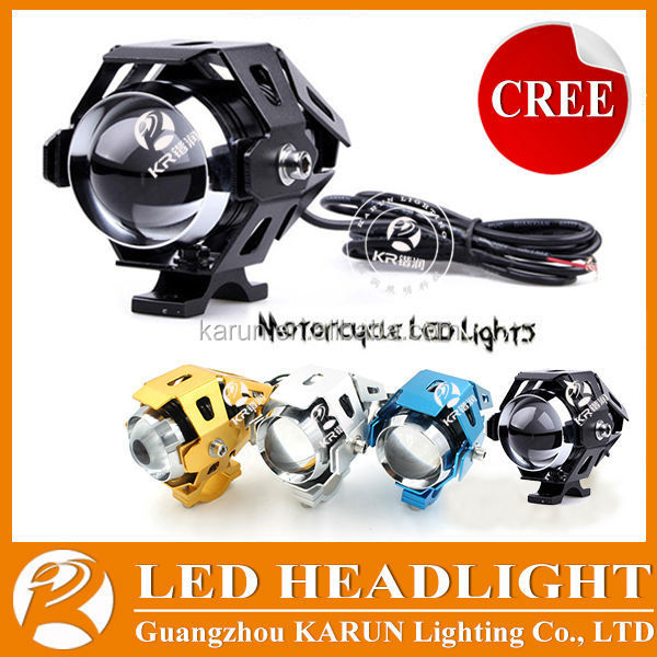 Hot Sale Cree U5 led driving lights for motorcycles, motorcycle projector headlight