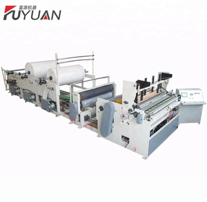 Jumbo Roll Embossing Design Recycled Carton Toilet Tissue Paper Rewinding Machine For Making Tissue Paper