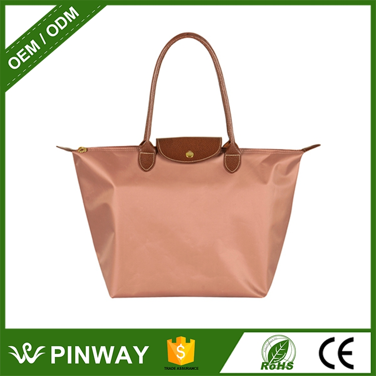 New Wholesale Sale Tote Bags Customized Logo <strong>Nylon</strong> Foldable Shopping Bag