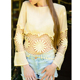 korean fashion hollow out women lace long sleeves blouse & top