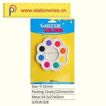 Eco-friendly Paraffin Non-toxic Multi Color water Color