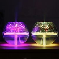 Best Selling 500ML Crystal Mini Humidifier With Projector LED Night light For Bedroom