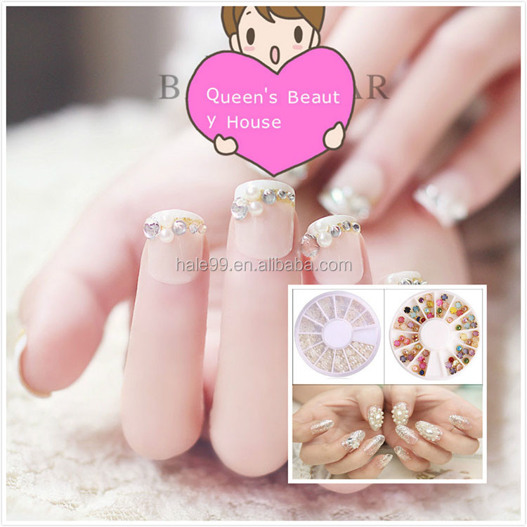 Good Quality DIY Colorful Bling Nail Stone Stickers For Girls