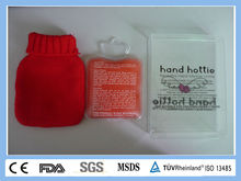 Reusable PVC Water Bottle Gel Hand Warmer With Cover