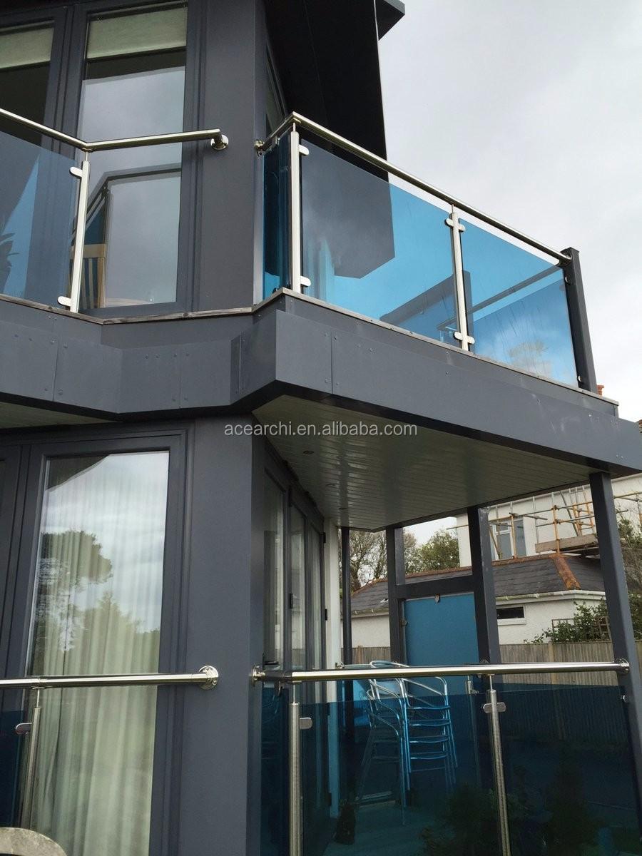 Glass Railing System Glass Balcony Glass Railing: Modern Design Inox Balcony Glass Railing With Stainless Steel Pilar