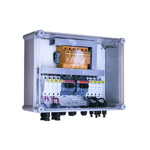 IP65 Array solar power distribution pvc plastic electrical PV combiner electric junction box mc4