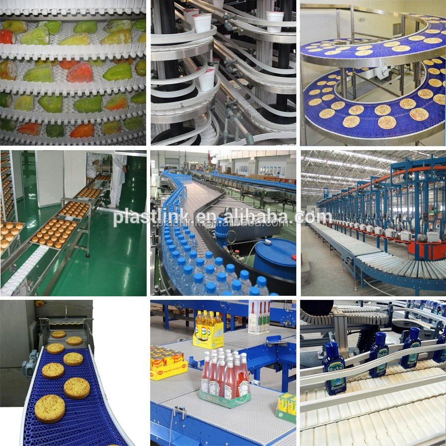 Plast Link Food Grade material heat resistant belt conveyor