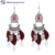Accepted Custom Christmas Gift Handmade Leaf Shape Bead Tassel Earrings Jewelry