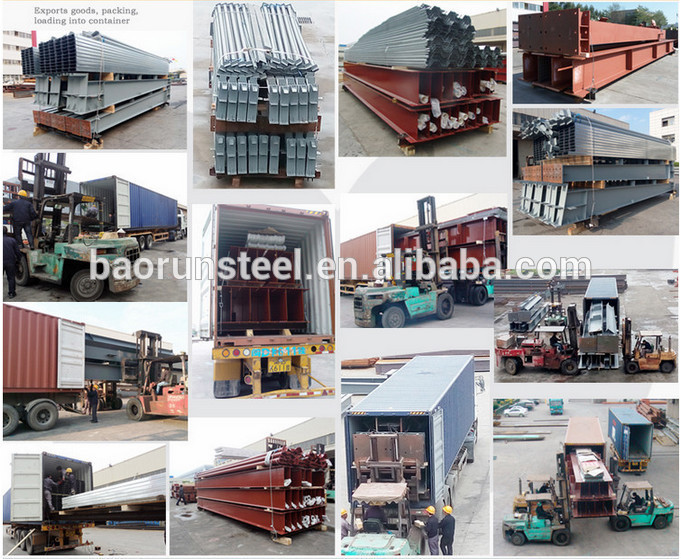 2015 ISO standard high quality light steel structure factory shed