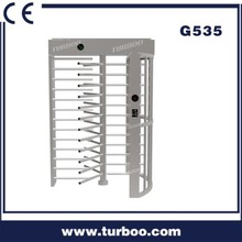 Turboo gate G535: full height turnstile for jails/market/hotel/government builing usage 304 stainless steel