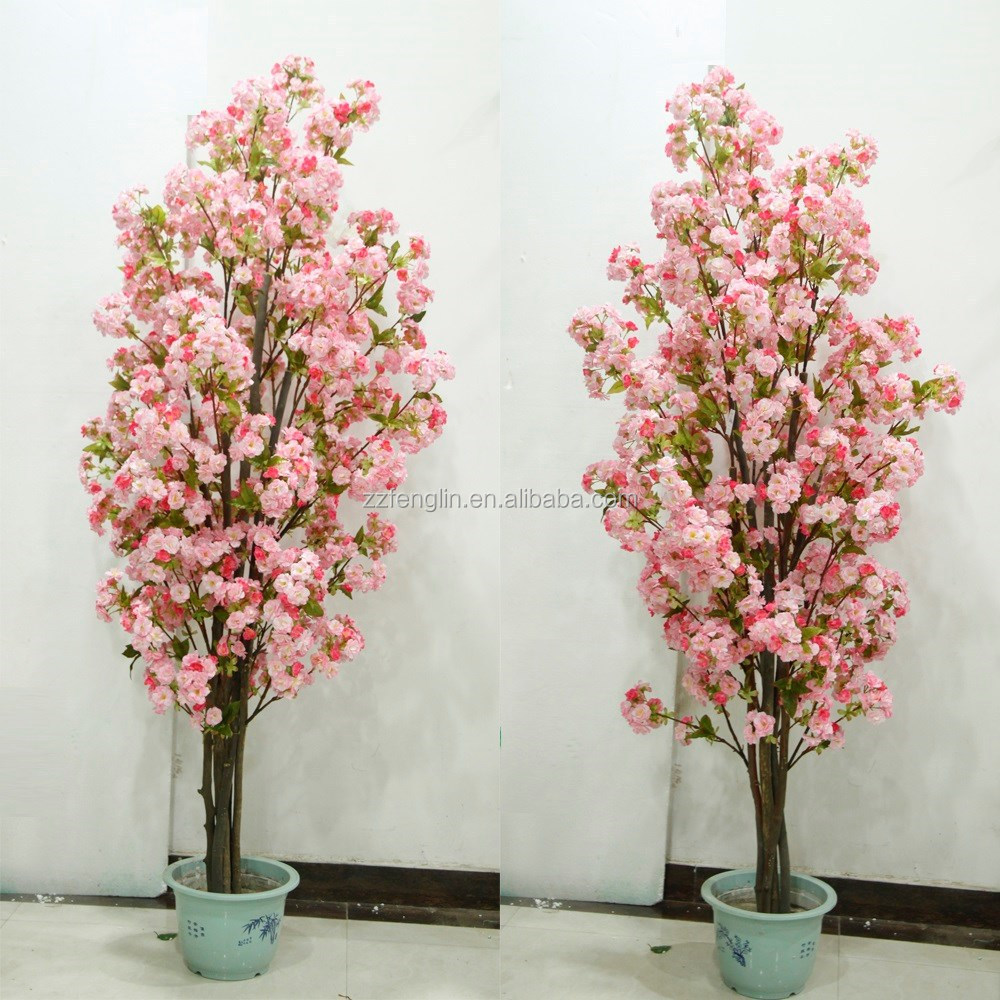 Factory Indoor Decorative Artificial Cherry Blossom Bonsai Fake Blossoms Tree Making For Wedding Decoration