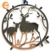 Gifts & Crafts metal reindeer home decor wall, garden ornaments wholesale in china