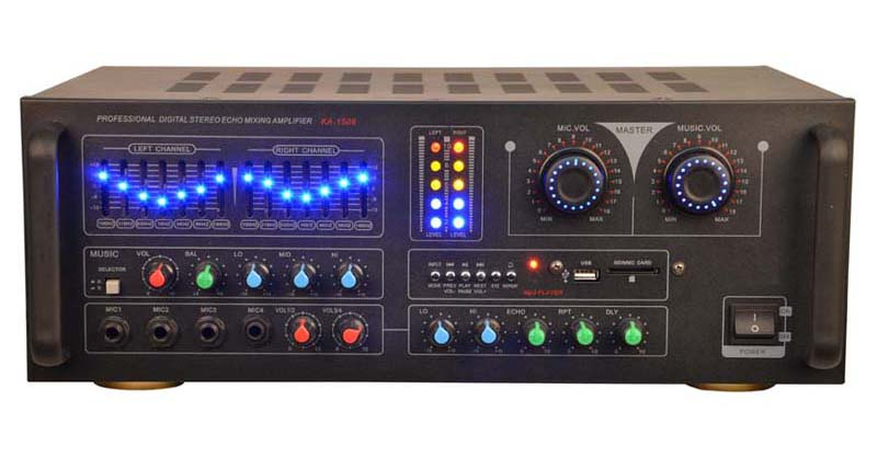 2.0 channel professional audio guitar power amplifier