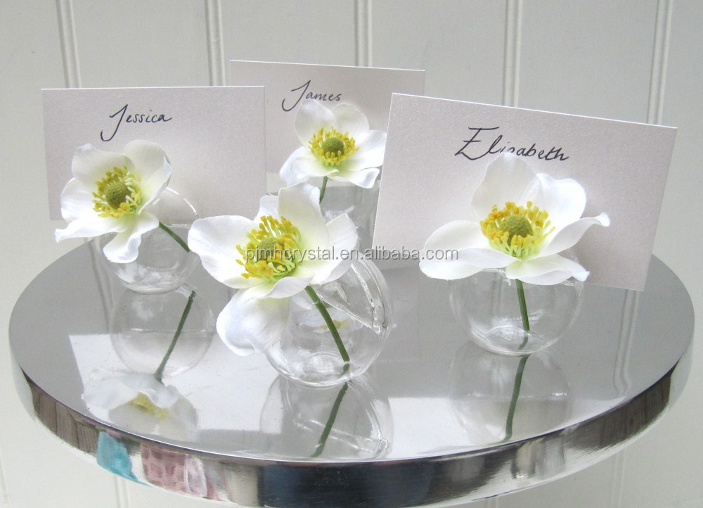 Wedding Favors Hyaline Vase Place Card Holders Mh Mp031 Buy