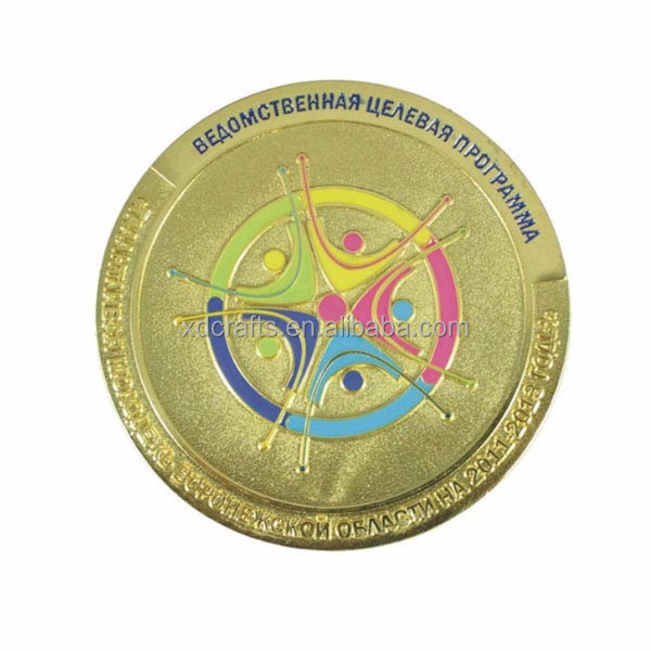 Low Price Custom Gold Plated Metal souvenir gold coin For Sale Factory