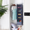Foldable 6 Shelf Hanging Closet Organizer