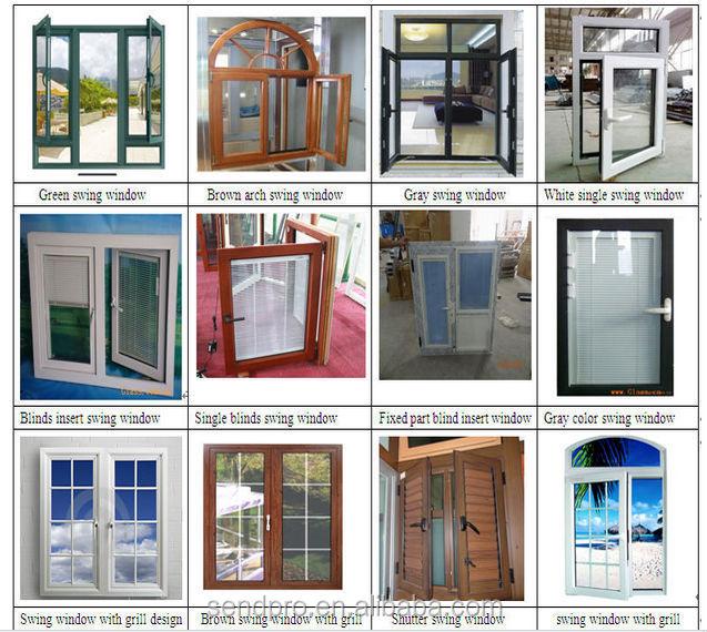 Swinging doors with sash windows