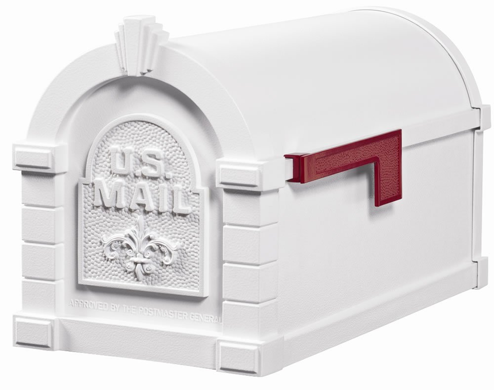 Gaines Keystone Level Two Solid Door Mailbox-White
