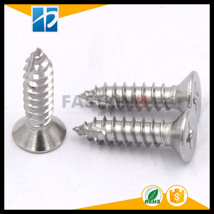 Stainless steel 304 Countersunk head self-tapping cut tail screw GB846