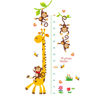 Cute Fashion Removable Kids Height Measurement Growth Chart Wall Sticker