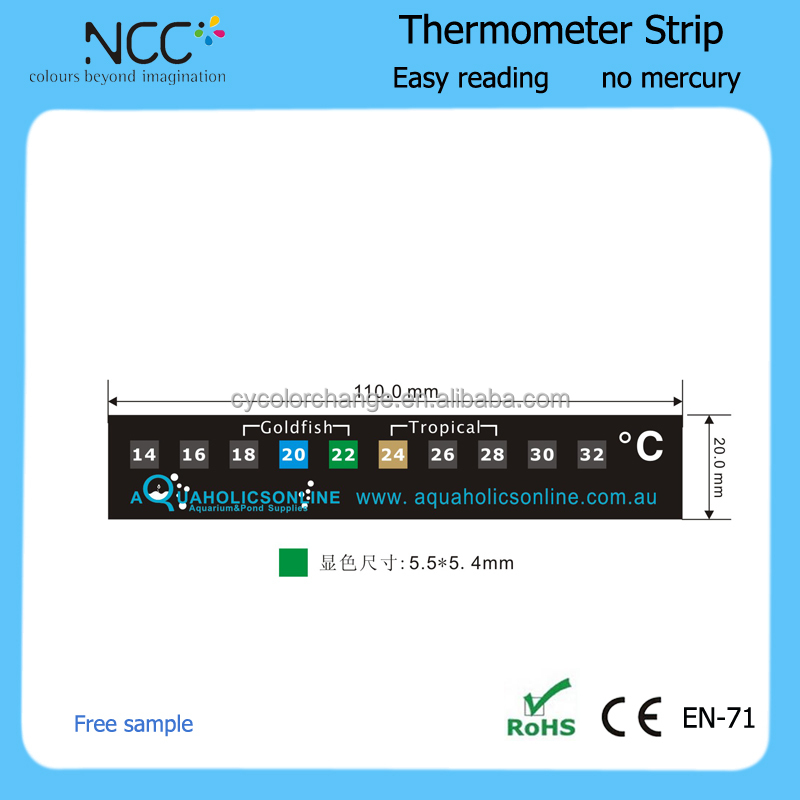 Klant ontwerp liquid crystal aquarium thermometer strip temperatuur strips