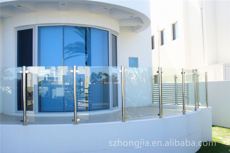 10mm 12mm 19mm tempered glass balcony railing glass