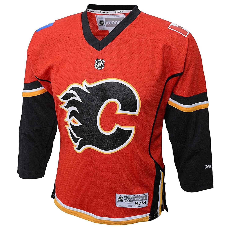 Calgary Flames Blank Red NHL Kids 4-7 Home Replica Jersey