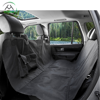 Black Waterproof Quilted Dog Hammock Car Pet Seat Cover For Travel