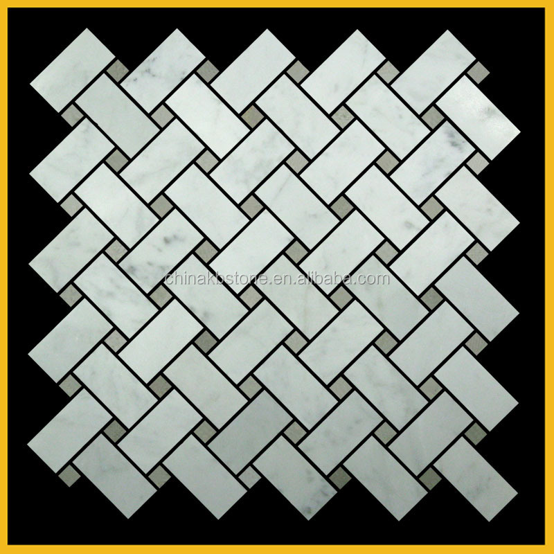 craara white polished customized hexagon grey pea mosaic tile