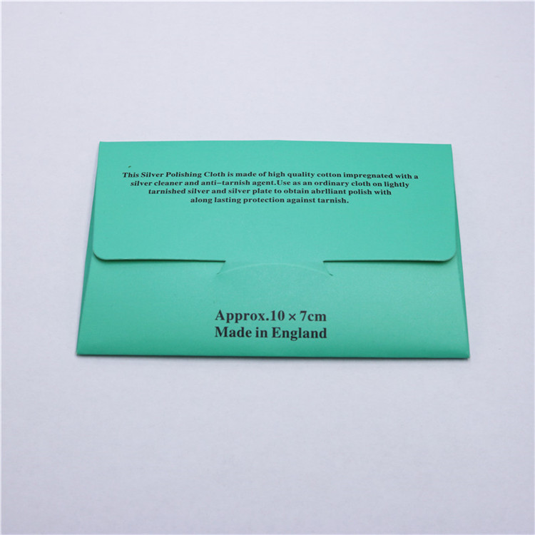 Hot Sale Anti-Tarnish 8x8 Silver Jewelry Polishing Cloth With Custom Envelope Packaging