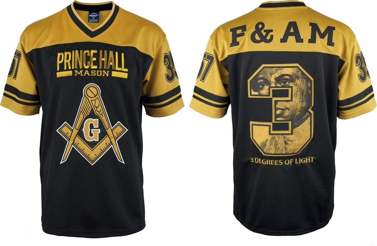 Cultural Exchange Big Boy Prince Hall Mason Divine S4 Mens Football Jersey