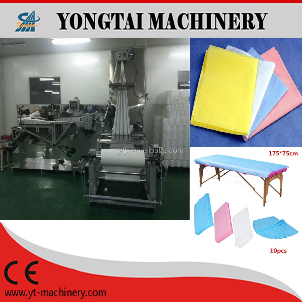 Non woven Medical Bed Sheet Folding Machine