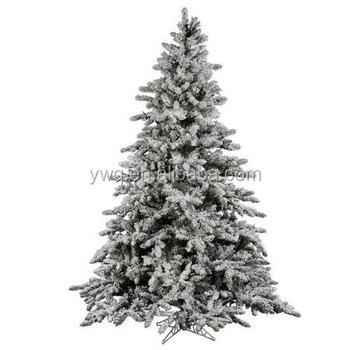 7ft White Flocked Christmas Tree White Outdoor Lighted Christmas