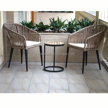 High Quality Wicker Rattan Coffee Set Used Patio Garden Hotel Furniture Outdoor