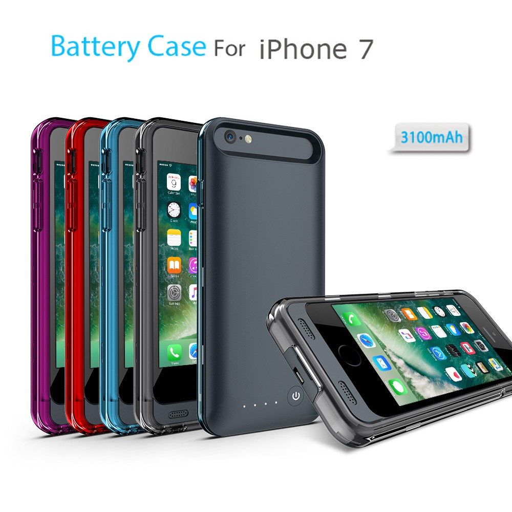NEW MFI certified battery power case for iPhone 7 with bumper