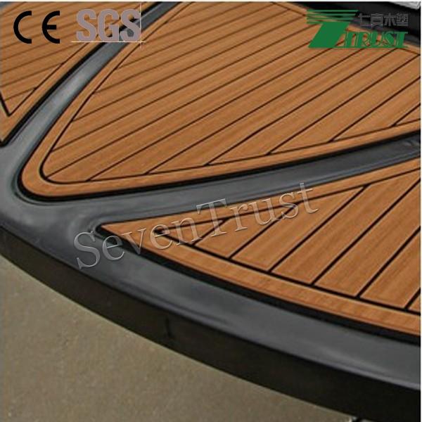 Non skid eva foam faux teak sheet boat yacht composite for Non slip composite decking