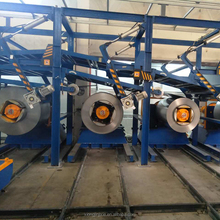 High speed hydraulic cut to length shearing machine line